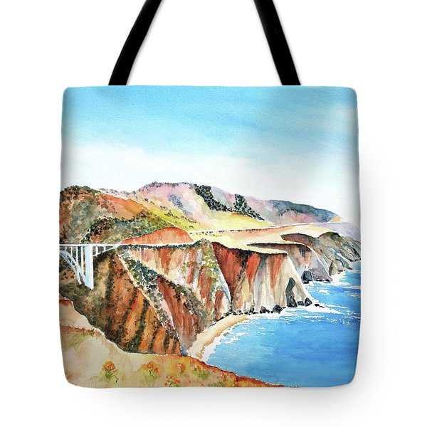 Bixby Bridge 3 Big Sur California Coast Tote Bag