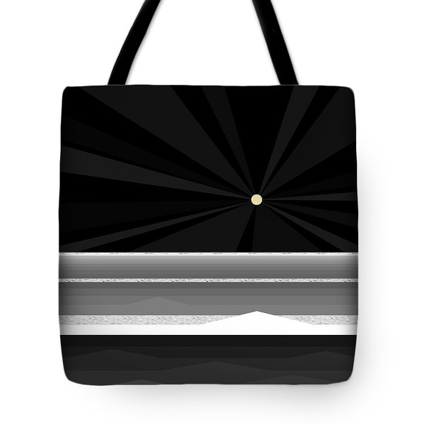 Black And White Abstract Sea Tote Bag