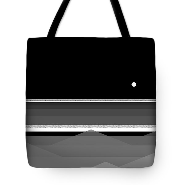 Black And White Abstract Seascape Tote Bag
