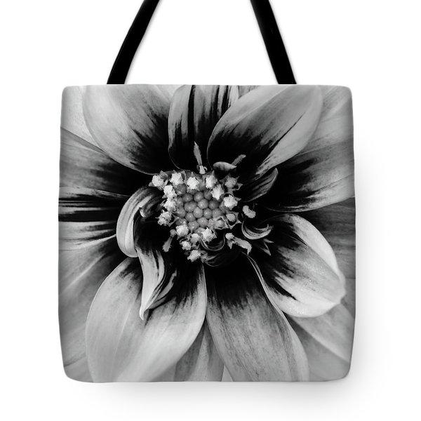 Black And White Dahlia Tote Bag