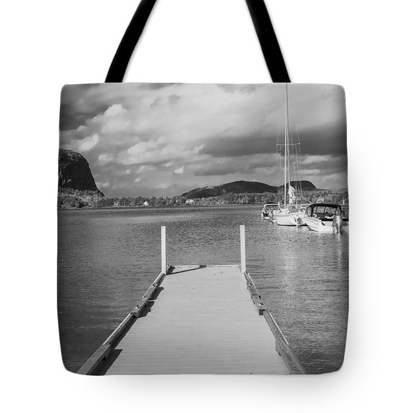 Black And White Mt Kineo Dock Tote Bag