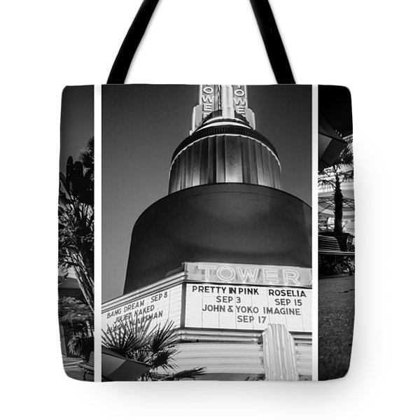Tote Bag featuring the photograph Black And White Triptych- by JD Mims