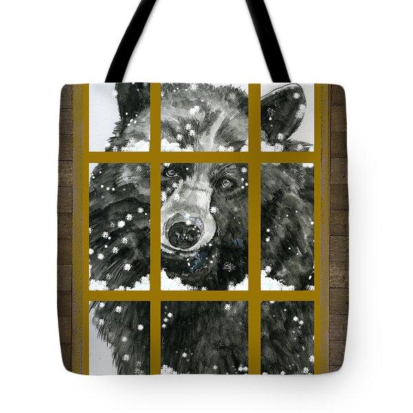 Black Bear, Outside My Window Tote Bag