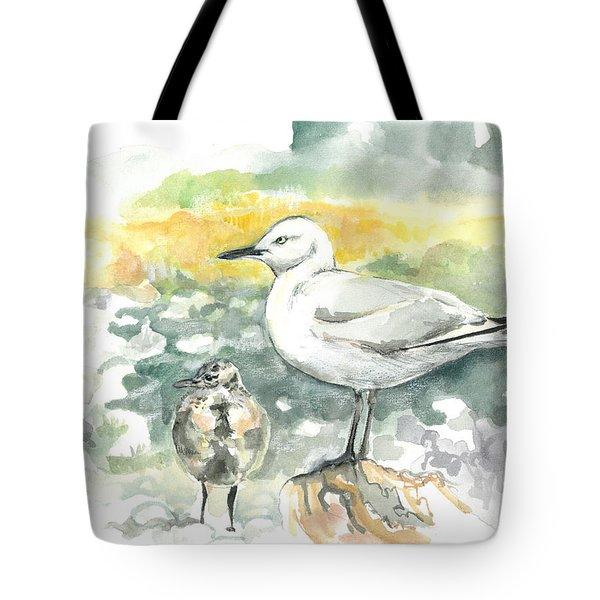 Black-billed Gull Family Tote Bag