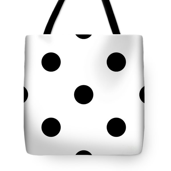 Black Dots On A White Background- Ddh610 Tote Bag