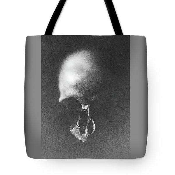 Black Erosion Tote Bag