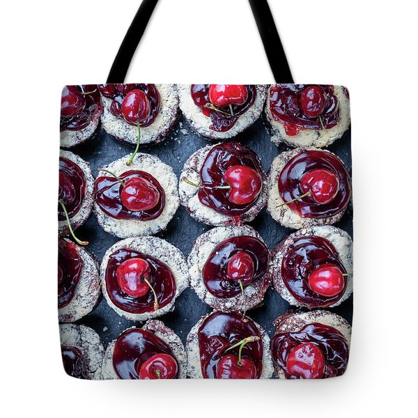 Black Forest Chocolate Crumble Brownies Pattern Tote Bag