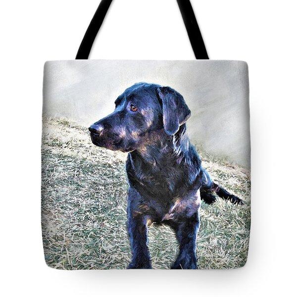 Black Labrador Retriever - Daisy Tote Bag