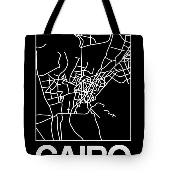 Black Map Of Cairo Tote Bag