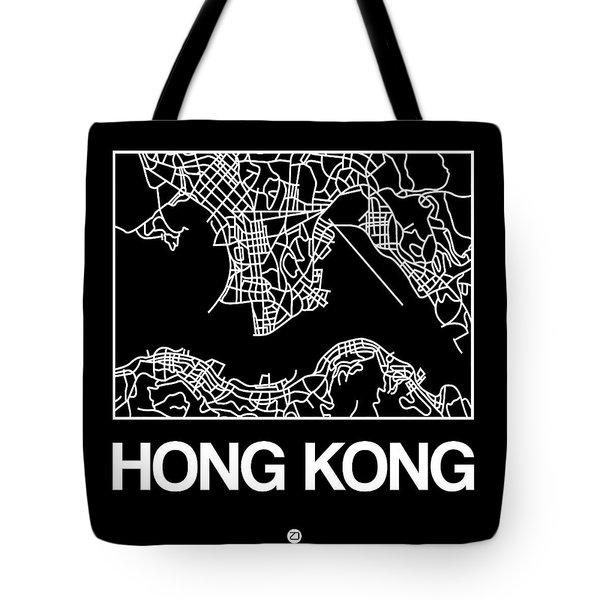 Black Map Of Hong Kong Tote Bag