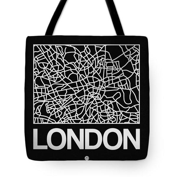 Black Map Of London Tote Bag
