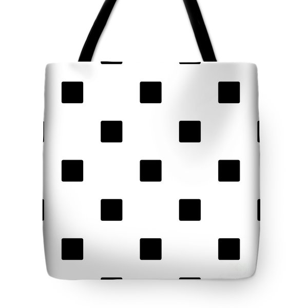 Black Squares On A White Background- Ddh574 Tote Bag