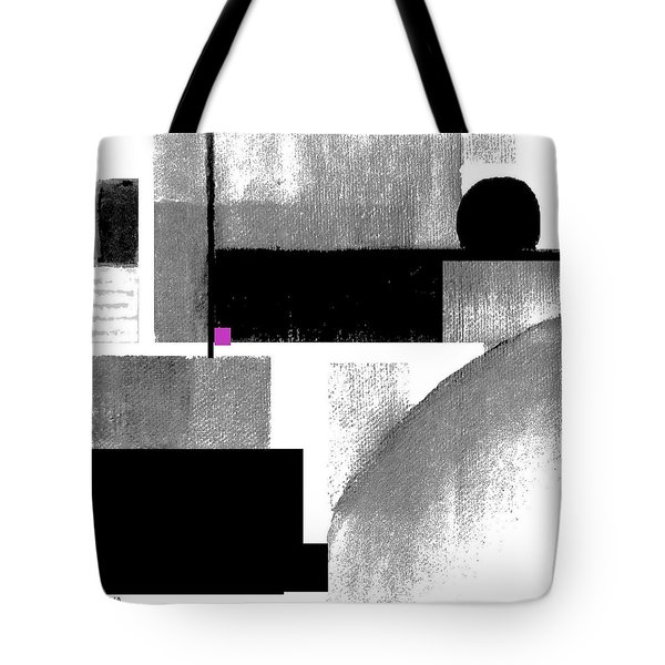 Tote Bag featuring the painting Black White Cubed by VIVA Anderson