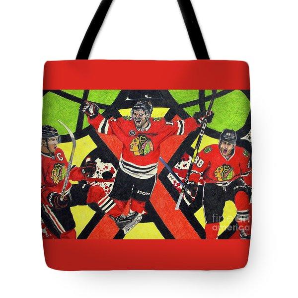Blackhawks Authentic Fan Limited Edition Piece Tote Bag