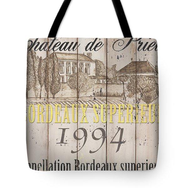 Blanc Wine Label 1 Tote Bag