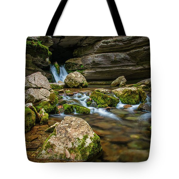 Tote Bag featuring the photograph Blanchard Springs Headwater by Andy Crawford