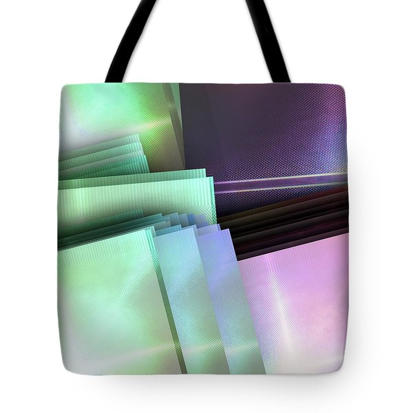 Blank Reflective Aluminum Plates. Blue, Pink And Purple. Fashion Abstract Background. Tote Bag