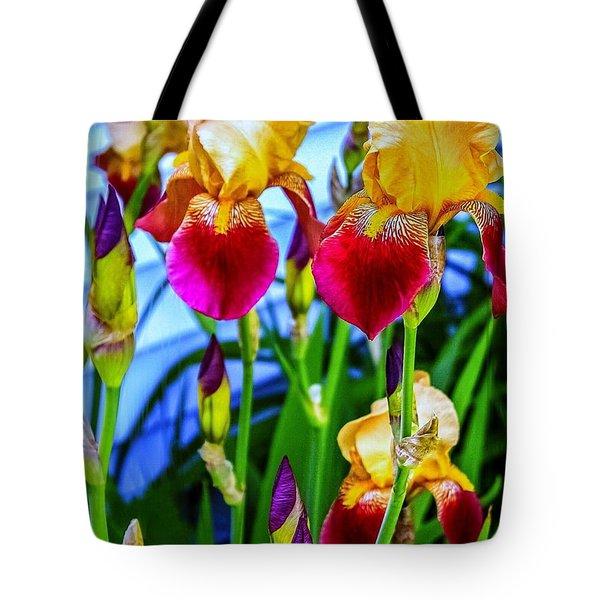 Blatant Iris Tote Bag