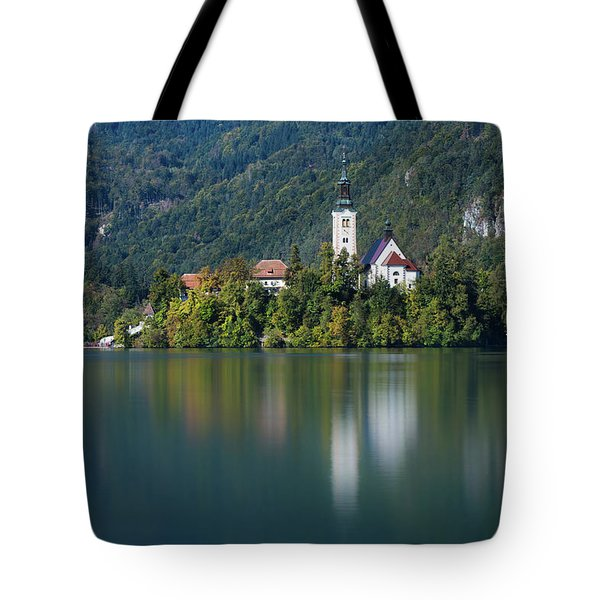 Tote Bag featuring the photograph Bled Island by Davor Zerjav