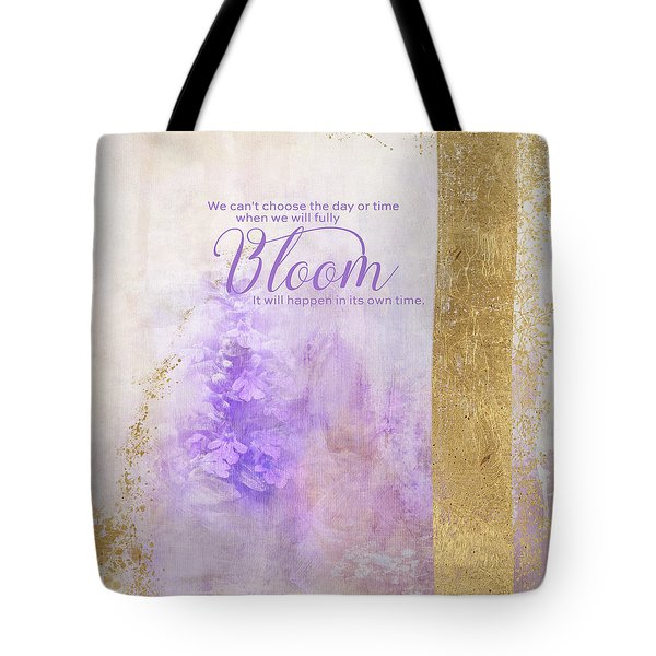 Tote Bag featuring the photograph Bloom by Jai Johnson
