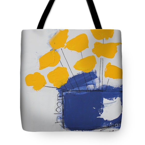 Tote Bag featuring the painting Bloom by Kim Nelson