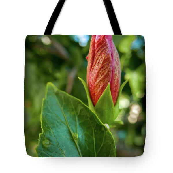 Blooming Hibiscus Tote Bag