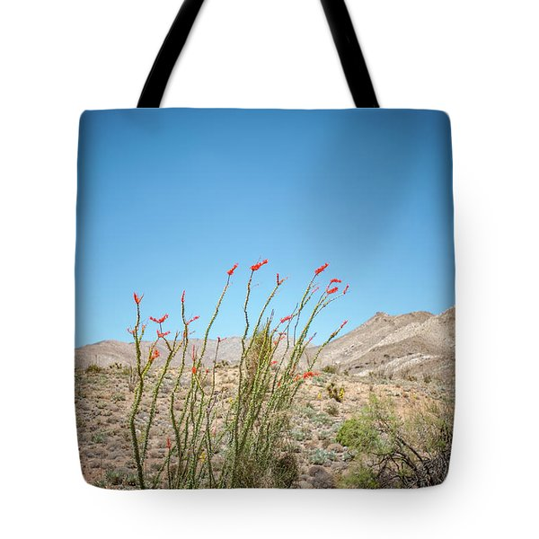 Blooming Ocotillo Tote Bag
