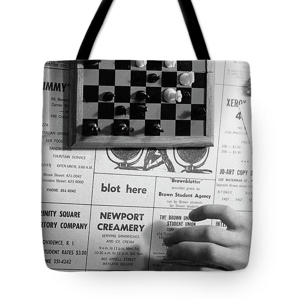 Blot Here, Aka Black's Move, 1972 Tote Bag