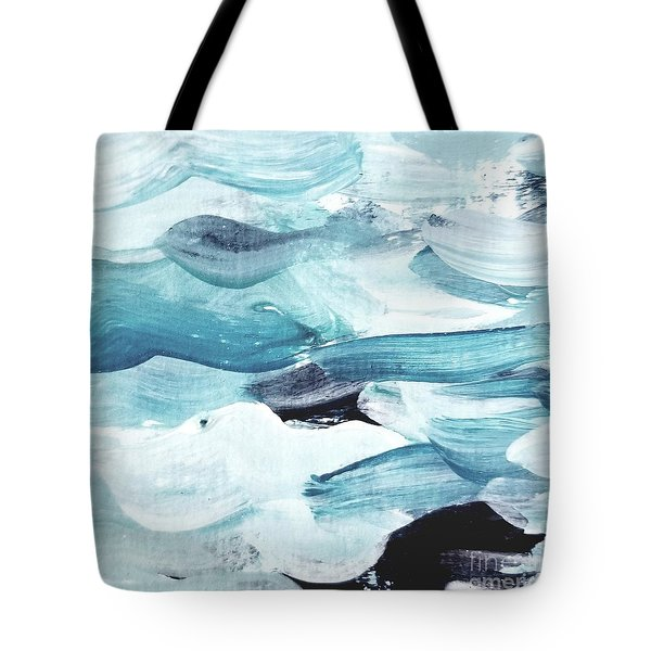 Tote Bag featuring the painting Blue #13 by Maria Langgle