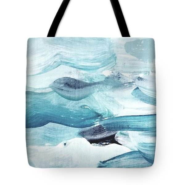Tote Bag featuring the painting Blue #14 by Maria Langgle