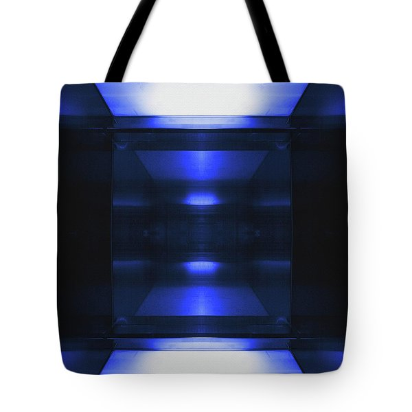 Blue Aluminum Surface. Metallic Geometric  Fashion Background Tote Bag