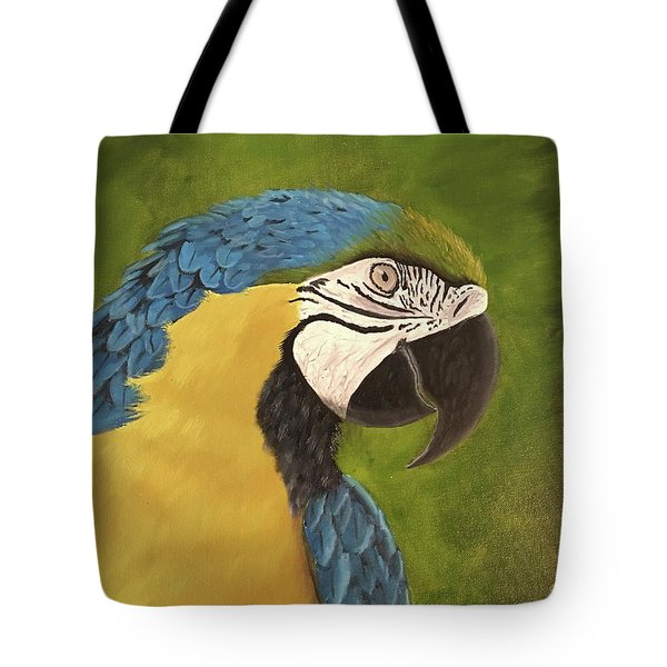 Blue And Gold Mccaw Tote Bag