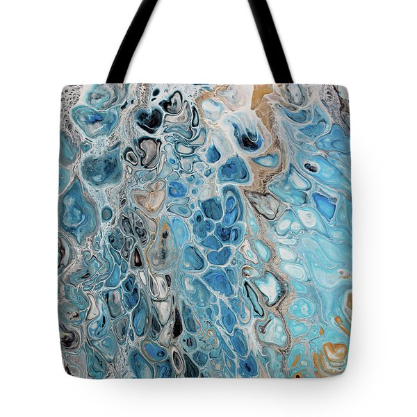 Blue And Gold Patterns Tote Bag