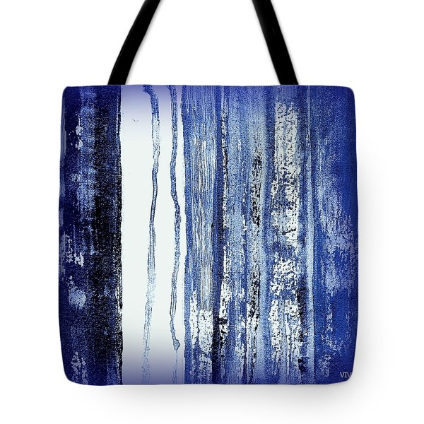 Blue And White Rainy Day Tote Bag