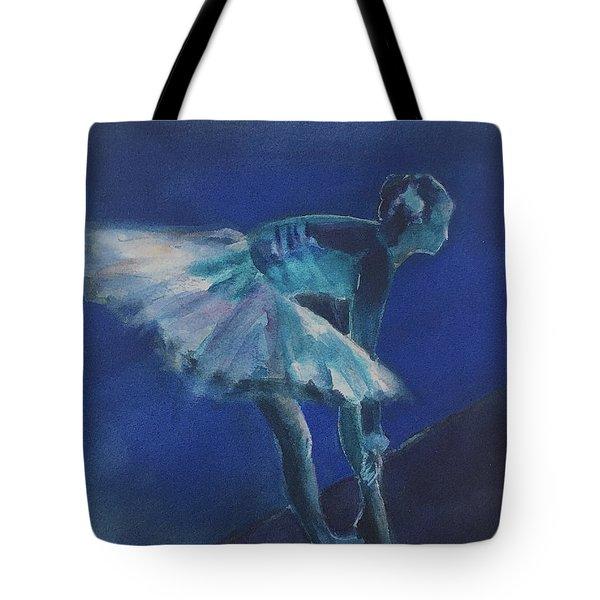 Blue Ballerina Tote Bag