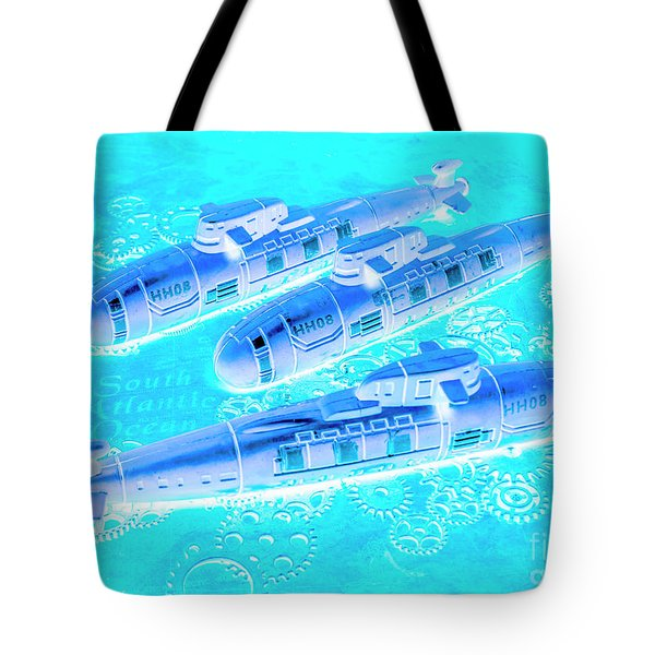 Blue Battle Plans Tote Bag