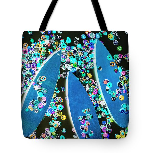 Blue Boarding Bay Tote Bag
