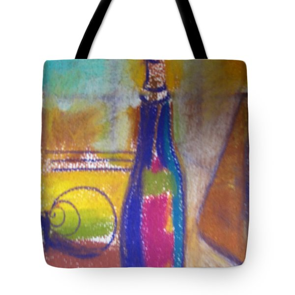 Blue Bottle Tote Bag