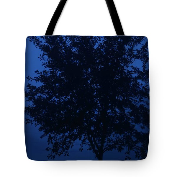 Blue Cherry Tree Tote Bag