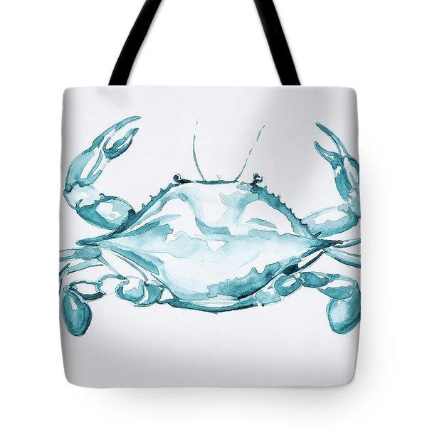 Blue Crab Turcoise Tote Bag