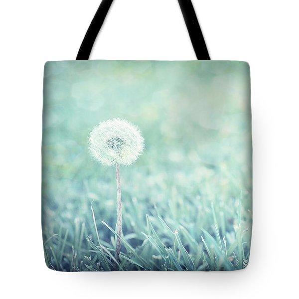 Blue Dandelion Tote Bag