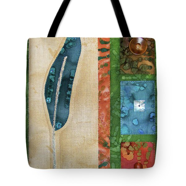 Blue Feather Tote Bag