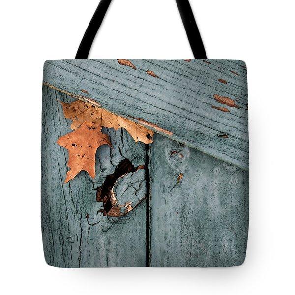 Blue Fence Tote Bag