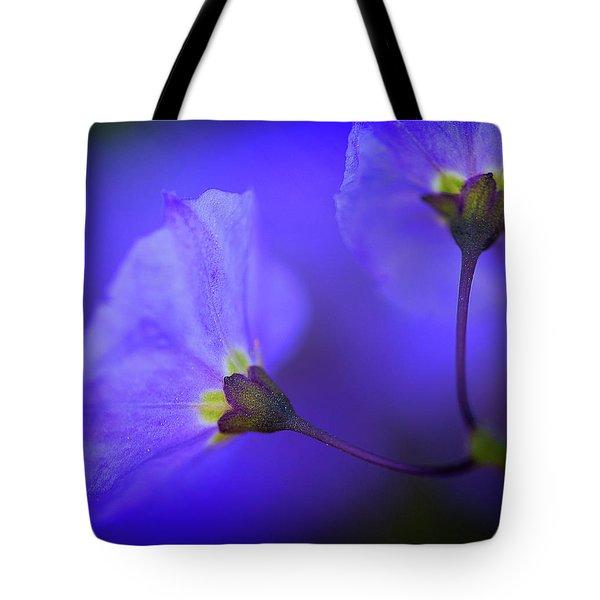 Blue Flower Tote Bag