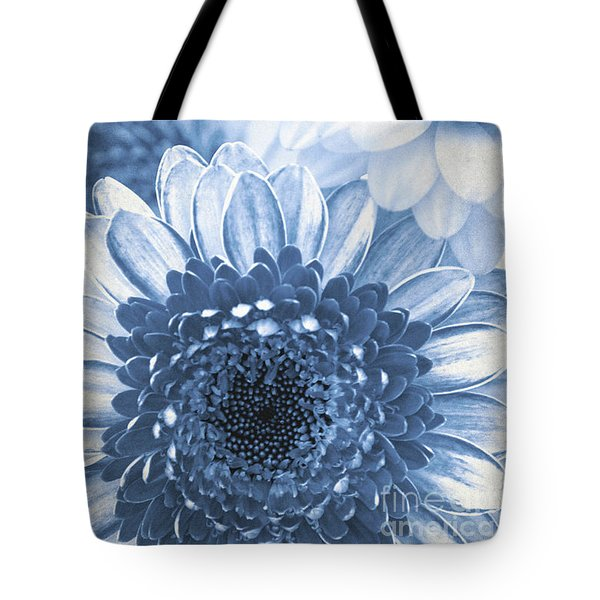 Blue Gerbera Tote Bag