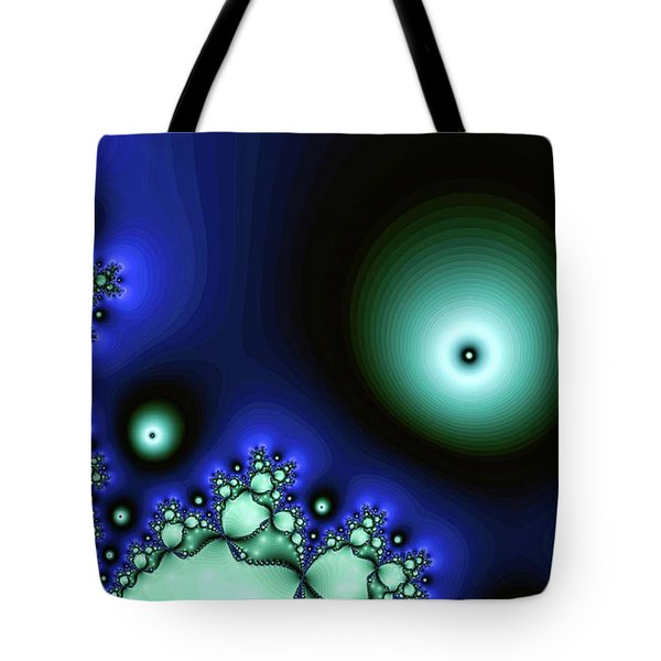 Blue Glowing Bliss Abstract Tote Bag
