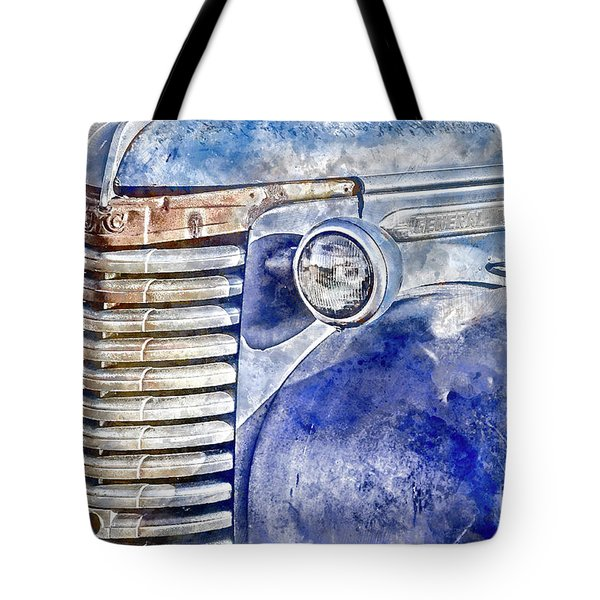 Tote Bag featuring the photograph Blue Gmc Truck by Brad Allen Fine Art