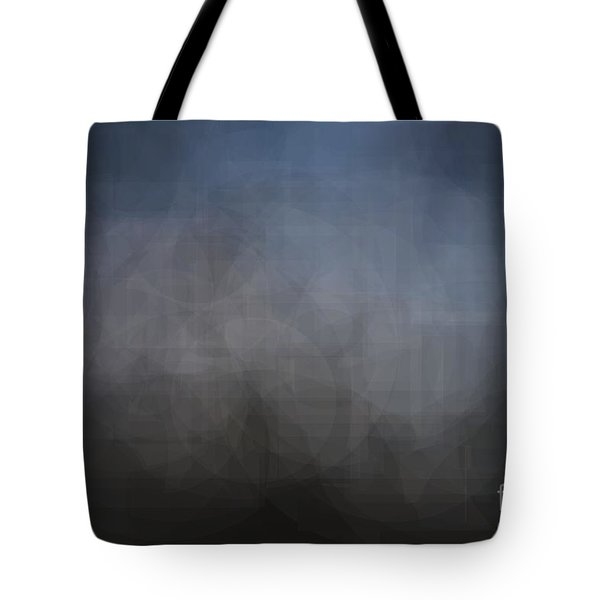 Blue Gray Abstract Background With Blurred Geometric Shapes. Tote Bag