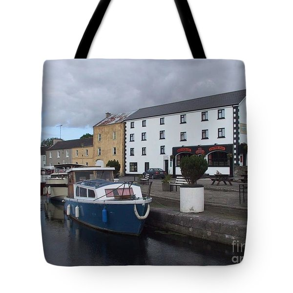 Tote Bag featuring the painting Richmond Harbour  In Cloondara, Co Longford by Val Byrne