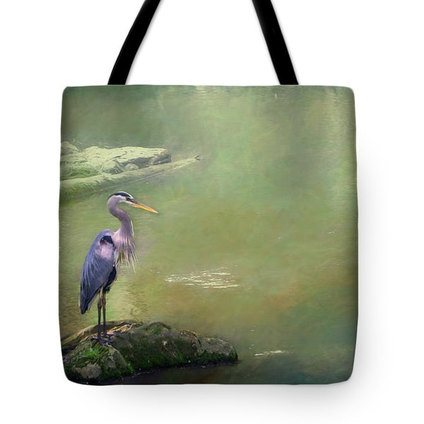 Blue Heron Isolated Tote Bag